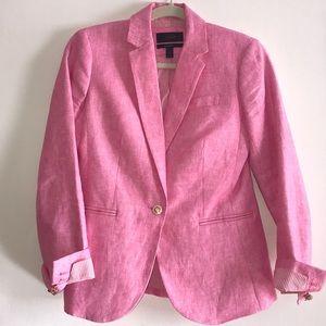 J.Crew Linen Pink Blazer